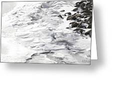 Frozen Shoreline Greeting Card