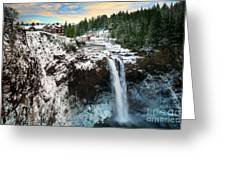 Frozen Snoqualmie Falls Greeting Card