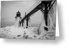 Frozen St. Joseph Lighthouse Greeting Card