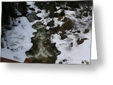 Frozen Stream Greeting Card