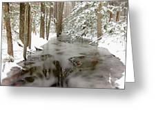 Frozen Stream Greeting Card