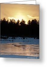 Frozen Sunset Greeting Card