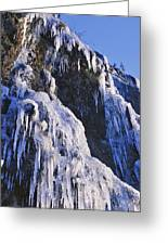 Frozen Waterfall On Oregon Central Coast Greeting Card