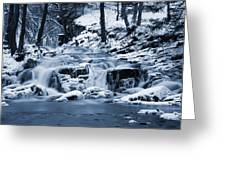Frozen Waterfall Greeting Card