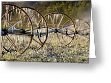 Frozen Wheels Greeting Card