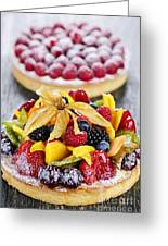 Fruit And Berry Tarts Greeting Card