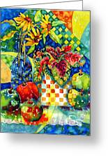 Fruit And Coleus Greeting Card by Ann  Nicholson