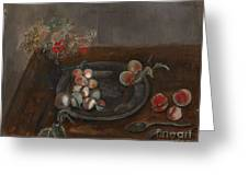 Fruit And Flowers On A Table Greeting Card