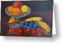 Fruit And Glass Greeting Card