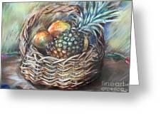 Fruit Basket Greeting Card by Melanie Alcantara Correia