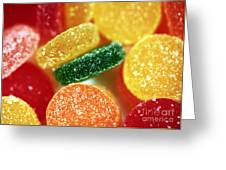 Fruit Candy Greeting Card by John Rizzuto
