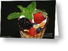 Fruit Cone Greeting Card