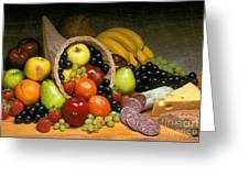 Fruit Cornucopia  Greeting Card
