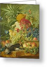 Fruit Flowers And Dead Birds Greeting Card