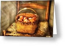 Fruit - Fresh Peaches  Greeting Card by Mike Savad