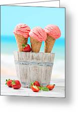 Fruit Ice Cream Greeting Card