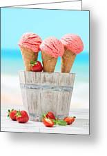 Fruit Ice Cream Greeting Card