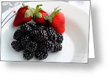 Fruit IIi - Strawberries - Blackberries Greeting Card