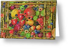 Fruit In Bamboo Box Greeting Card