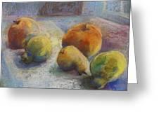 Fruit In Moonlight Greeting Card