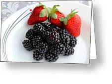 Fruit Iv - Strawberries - Blackberries Greeting Card
