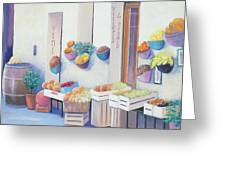Fruit Market In Tuscany Greeting Card