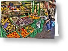 Fruit Market Greeting Card
