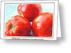 Fruit Of The Vine - Tomato - Vegetable Greeting Card
