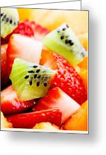 Fruit Salad Macro Greeting Card