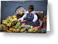 Fruit Seller Greeting Card by James Brunker