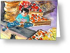 Fruit Shop In The Mountains Of Gran Canaria Greeting Card