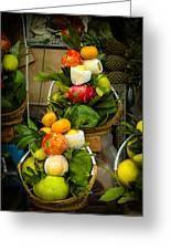 Fruit Stall In Vietnamese Market Greeting Card