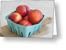 Fruit Stand Nectarines Greeting Card