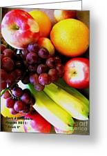 Fruit V Greeting Card