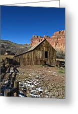 Fruita Horse Stable Capitol Reef National Park Utah Greeting Card