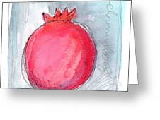 Fruitful Beginning Greeting Card by Linda Woods