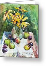 Fruits And Camomiles Greeting Card