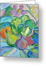 Fruits And Veggies  Greeting Card by Brenda Ruark