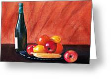 Fruits And Wine Greeting Card