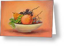 Fruits In A Plate Greeting Card