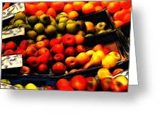 Fruits On The Market Greeting Card