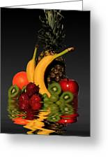 Fruity Reflections - Dark Greeting Card