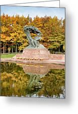 Fryderyk Chopin Statue In Warsaw Greeting Card