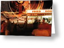 Fryeburg Fair At Night  Fried Dough Greeting Card