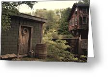 Frye's Measure Mill Greeting Card by Joann Vitali