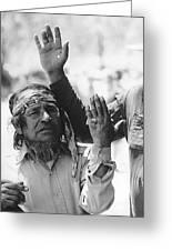 Ft. Apache Homage 1948 Ft. Apache Celebration Ft. Apache Arizona Saluting Apaches 1970 Greeting Card