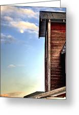Ft Collins Barn And Moon 13586 Greeting Card