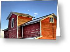 Ft Collins Barn Sunset 13505 Greeting Card