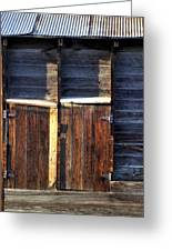 Ft Collins Barn Tin 13547 Greeting Card by Jerry Sodorff
