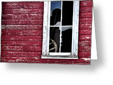 Ft Collins Barn Window 13568 Greeting Card by Jerry Sodorff